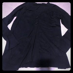 Black long sleeve cardigan, nwt